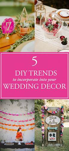 5 diy wedding decor trends perfect for any skill level