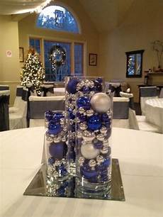 blue and silver wedding centerpieces even tho its in