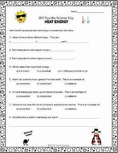 heat energy video response form bill nye the science worksheet