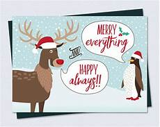 funny christmas card merry everything happy always
