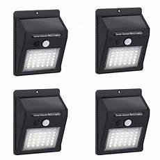 4pc 30 garden led solar power light outdoor pir motion sensor solar wall light emergency