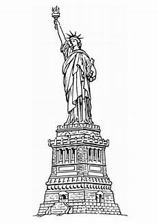 malvorlage freiheitsstatue new york kostenlose