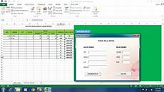 membuat aplikasi form sederhana di ms excel 2013 learning is an adventure
