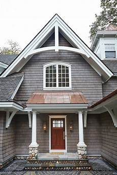 add this entrance to laurel love the combination of shingles and copper color metal roof dream