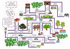 mapping worksheets for esl 11504 giving directions aprender ingles vocabulario actividades de ingles y casa en ingles