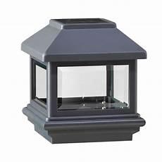 deckorail 4 in 4 in black composite solar cap 95863 the home depot