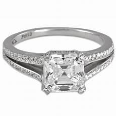 jacob co platinum asscher cut diamond engagement ring
