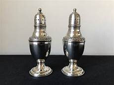 salt and silver antique sterling silver salt pepper shakers silver