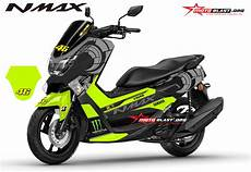 Nmax Modif Stiker by Modifikasi Striping Yamaha Nmax Black Sun Moon Vr46 Winter