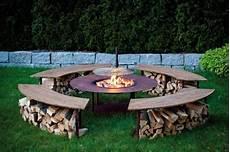 feuerstelle outdoor model quot circle quot set mit grill und 4