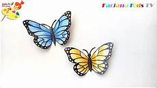 how to make a paper butterfly 3d butterfly diy crafts