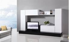 mobili soggiorno moderno mobile soggiorno parete attrezzata mdf bianco e nero l