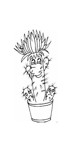 Malvorlagen Blumen Mit Gesicht Kaktus Mit Gesicht Im Topf Ausmalbild Malvorlage Blumen