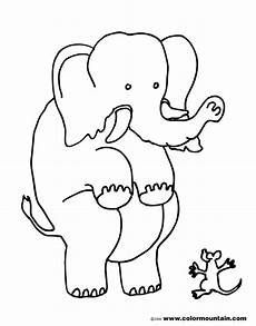 scared elephant coloring picture create a printout or