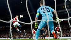 watch better than ronaldo s bicycle kick wenger can t get enough of ramsey s europa league