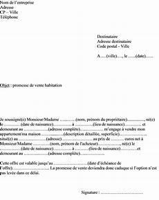 Mod 232 Le Type Lettre Promesse De Vente Bien Immobilier