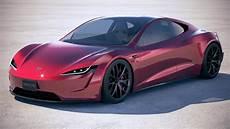 tesla roadster 2020 3d turbosquid 1231795