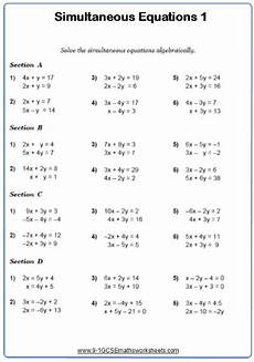 fraction worksheets gcse higher 3959 solving simultaneous equations a maths worksheet and answers gcse higher grade 5 year 10 math