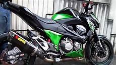 2013 kawasaki z800 akrapovic carbon exhaust