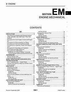motor auto repair manual 2006 nissan frontier regenerative braking 2006 nissan frontier engine mechanical section em pdf manual 256 pages