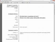 curriculum vitae per scaricare curriculum vitae europeo per wordpad