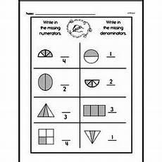 free second grade fractions pdf worksheets edhelper com