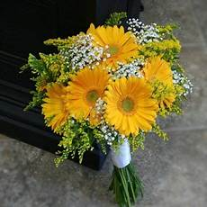 yellow flowers for brides yellow gerbera bridal bouquet w flowers ottawa wedding
