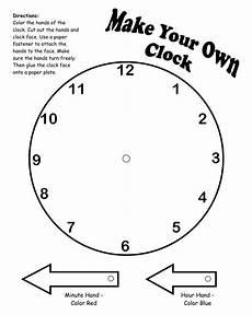 teaching time printable clock 3714 make your own clock printable math lessons math classroom kindergarten math