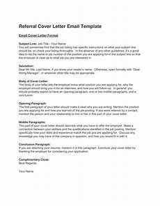 cover leter email referal referral cover letter template in word and pdf formats