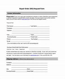 sle repair request form 12 exles in word pdf