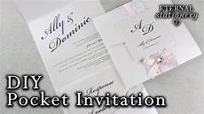 how to make a belly band pocket invitation diy wedding