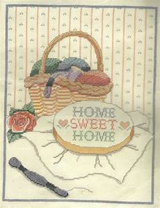 home sweet home counted cross stitch embroidery kit by banar designs sealed ebay