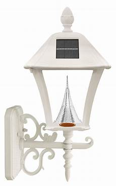com gama sonic gs 106fpw w baytown l outdoor solar light fixture pole pier wall