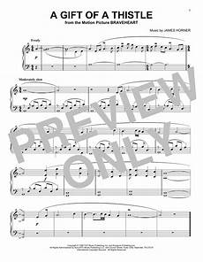 a gift of a thistle sheet music direct
