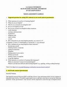 la salle university ba in english and evaluat assessment questionnaire