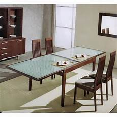 extendable glass top dining table glass top dining