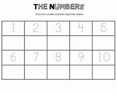 numbers tracing worksheet by miss cappuccino teachers