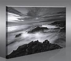 Bild Schwarz Weiß Leinwand - atmo strand schwarz weiss 100x65 bild bilder auf leinwand