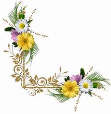 bordure en fleur fleurs angle