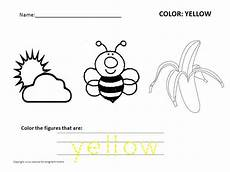 color yellow worksheets for preschool 12892 free preschool worksheets for learning colors advice for