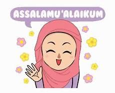 20 Ide Gambar Animasi Muslimah Bergerak Assalamualaikum