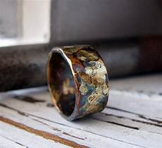 rustic mens wedding band 10mm mens wedding ring unique mens etsy