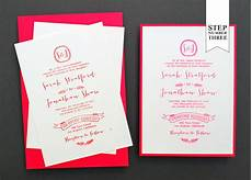 diy tutorial neon kraft paper wedding invitations