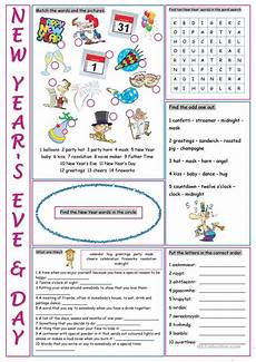 new year worksheets 19368 new year s day vocabulary exercises worksheet free esl printable worksheets made by teachers