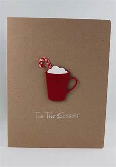 winter mug paper handmade card tis the by