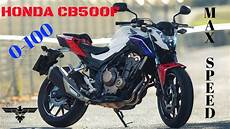 Honda Cb 500 F 2018 0 100 Km H In 4 8s 6th Gear Top