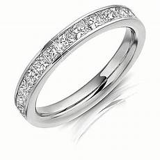1 ct princess cut eternity diamond women s engagement titanium wedding band ring ebay