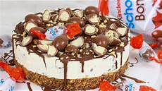 kinder schoko bon torte ohne backen i no bake cake