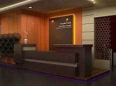 Desain Interior Ruang Lobby Resepsionis Kantor Metro