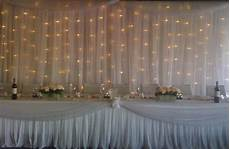 tulle w lights thinking this for reception walls to cover the lol k q s future